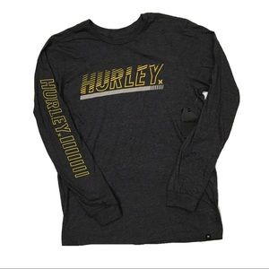 Hurley Launch Block Letters Long Sleeve Shirt NWT